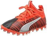 Puma Unisex-Kinder ONE 5.3 MG Jr Fußballschuhe, (Black-NRGY Red Aged Silver 01), 38 EU