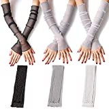 Damen UV Schutz Lange Spitze Handschuhe Kühlen oder Wärmer Arm Ärmel 2 Zweck...