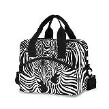 Mnsruu Animal Zebra Leopard Print Lunchbox Khltasche Wiederverwendbare Tragetasche Schultertasche...