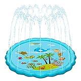 Hyvigor Splash Pad, Sprinkler Matte, 170cm Wasser-Spielmatte Splash Play Matte, Sommer Garten...