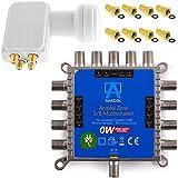Anadol Zero Watt 5/8 - ECO - Stromloser Multischalter inklusive Quattro LNB für 8 Teilnehmer -...