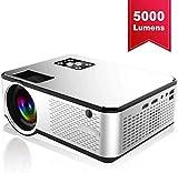 DOOK Beamer 5000 Lumen Projektor Untersttzt 1080P Full HD Native 720p Max. 200'' Display Mini LED...