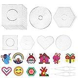 LAOYE Stiftplatte für Bügelperlen, Steckperlen Platte Set 12pcs, 6pcs Bügelperlen Platten Groß +...
