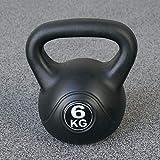 Vivol Kettlebell 6kg Vinyl - Kugelhantel Training Gewicht met Premium Kunststoffmantel und...