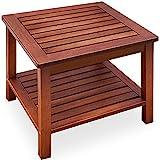 Deuba Beistelltisch Gartentisch Akazienholz Massiv 45x45x45cm Balkontisch Couchtisch Holztisch...