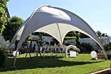 Beauty.Scouts Kuppelzelt Mia XL Partyzelt Sonnendach Sonnensegel Dach grau Stahlrohr hochwertig...