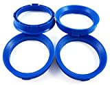 BLAU Zentrierringe 4Stk. 66,6-57,1/66,6 auf 57,1 kompatibel mit CMS, DBV, Proline Wheels, Keskin,...