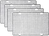 Tebery 4 Stück Edelstahl-Grillrost & Auskühlgitter, passt auf Backbleche für das Backen von...