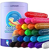 CRAZY LEDI 24 Farben Seidige Gelstifte Set, waschbare 3-in-1 glatte Wachsmalstifte, Pastell- und...