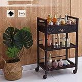 B-K Vier Räder Portable Tool Storage Cart Shelf Trolley, High-Density Sheet Rack Großen Raum...