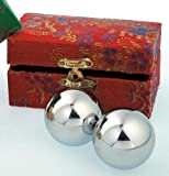 Qi-Gong Meditation Kugeln - Silberfarben