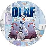 Für die Geburtstags Torte, Zuckerbild mit dem Motiv: Frozen Die Eiskönigin ( OLAF ), Essbares Foto...