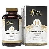 Nuvi Health Haar Vitamine - 180 Kapseln – Hochdosierter Premium Komplex mit D-Biotin,...