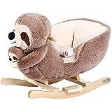 Deuba Schaukelpferd Schaukeltier ab 1 Jahr mit Musik Sicherheitsgurt Kinder Baby Schaukel Spielzeug...
