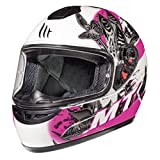 Mt Motorradhelme - Thunder Brise (Kinder) Perle Weiß/Pink M
