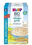 Hipp Bio-Milchbreie ohne Zuckerzusatz-Vorratspackung, ab 6. Monat, Kindergrieß, 4er Pack (4 x 450...