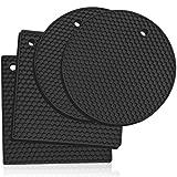 Silikon -Untersetzer: 4er set Topf-Halter und Untersetzer - Ofenhandschuhe,Hitzebeständiges...