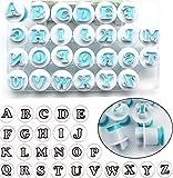 HQdeal 26 Stück Fondant Ausstecher Set, Ausstechformen Satzzeichen, Buchstaben und Zahlen für...