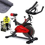 Sportstech Profi Indoor Cycle SX100 mit 13KG Schwungrad, Gepolsterter Armauflage, Komfortsattel,...