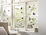 Komar - Window-Sticker CHEERFUL - 31 x 31cm - Fensterdeko, Fenstersticker, Fensterfolie,...