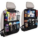 Orlegol Auto Rückenlehnenschutz, 2x Auto Rücksitz Organizer für Kinder, Wasserdicht...