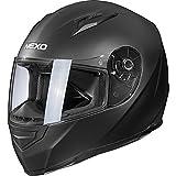 Nexo Integralhelm Motorradhelm Helm Motorrad Mopedhelm Basic II, herausnehmbares Komfortpolster, Be-...