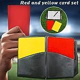 pegtopone Sport-Schiedsrichter-Kartensatz, Rote Gelbe Karte Mit Lederner Geldbörse Für Fußball,...