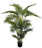 Seidenblumen Ro Arekapalme Deluxe 130cm DA Kunstpalmen knstliche Palmen Arecapalme Dekopalme
