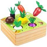 CENOVE Holz Spielzeug ab 1 Jahr Baby, Happy Farm Sortierspiel Holzspielzeug für 1 Jahr Jungen und...