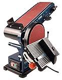 Ferm Bandschleifmaschine – 350W – 150mm - einschl. 2 Schleifbänder (P80 & P120) und 2...