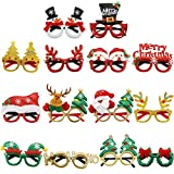 Dulabei 14 Stück Weihnachtsbrillen Partybrillen Set Kreative Weihnachtsmann Weihnachten Brillen...