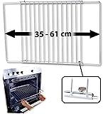 Rosenstein & Söhne Backofengitter: Universal-Backofenrost, ausziehbar von 35-61 cm, 32 cm tief...
