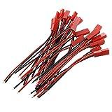 PQZATX 10 Paar RC Model Batterie JST Stecker Buchse Anschluss Kabel Draht de Rot und schwarz