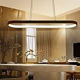 Pendelleuchte LED Dimmbar 72W, Schwarz Büro Pendelleuchte mit Fernbedienung, Höhenverstellbar...