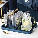 Wassergläser Kalter Kessel Set Glas Transparent Wasser Cup Wohnzimmer Trinkbecher Mit Ablauf Stand...