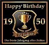 RAHMENLOS 3 St. Aufkleber zum 70. Geburtstag: 1950 der Beste Jahrgang Aller Zeiten - Selbstklebendes...