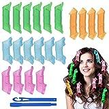 URAQT Lockenwickler Curler, 18pcs Haar Lockenwickler Kleine Wellen Locken Wave Styling Kit, DIY...