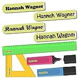 INDIGOS UG® Namensaufkleber Sticker - 36x7 mm - 300 Stück für Kinder, Schule und Kindergarten -...