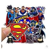 ZJJHX Cartoon Superman Batman Notebook Skateboard Aufkleber Koffer Aufkleber europäischen und...