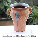 Liangzishop Kreativer Blumentopf Ceramic Sukkulenten Pot Planter Cactus Pot Blumentpfe for Office...