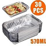 30pcs Einweg-Grill Auffangwannen aus Aluminium Foil Fettauffangwannen Recycelbar Grill Ausgabefach...