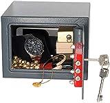 Xcase Tresor: Kompakter Stahlsafe mit 2 Doppelbart-Schlüsseln, 5 Liter (Mini Safe)