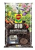 COMPO BIO Universal-Erde für Zimmerpflanzen, Gemüse, Obst und Kräuter, Torffrei, Kultursubstrat,...