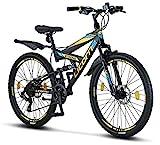 Licorne Bike Strong D Premium Mountainbike in 26 Zoll - Fahrrad für Jungen, Mädchen, Damen und...