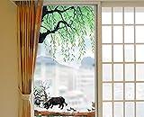 Milchglasfolie, Sichtschutz-selbstklebende Fensterfolie, transparenter und lichtundurchlässiger...