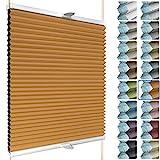 SchattenFreude Waben-Plissee für Fenster | 100% verdunkelnd/Blackout | Mit Klemm-Haltern | Klemmfix...