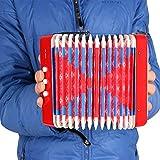 Fesjoy Musikalisches Spielzeug Kinder 7-Key 2 Bass Mini Kleines Akkordeon Pädagogisches...