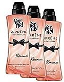Vernel Suprême Romance Weichspüler, 72 (3 x 24 Waschladungen) für einen langanhaltenden Duft