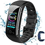 BTMAGIC Activity Fitness Tracker Uhr mit Herzfrequenzmesser, IP68 Wasserdichtes Smart Fitness Band...