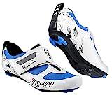 TriSeven Premium Triathlon Fahrradschuhe - Ultraleichte, atmungsaktive und Fiberglas Sohle | Der...